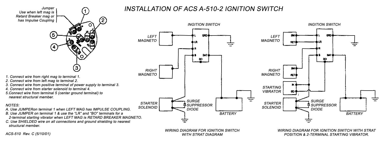 Wiring Diagram Manual For Aircraft : Acs keyed ignition switch aeroplans blaus